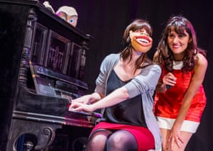 Nina Conti, right, performing In Your Face.