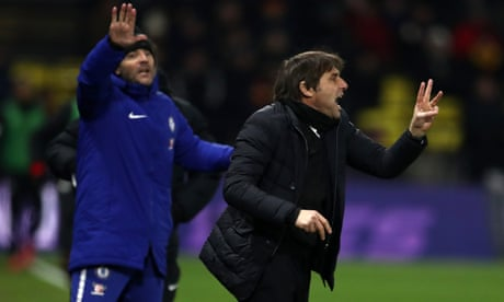 Antonio Conte says Chelsea played with fear at Watford and lack character