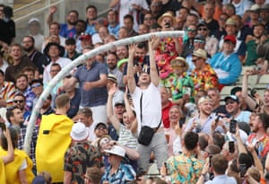 The fans are back... and so is the beer snake.