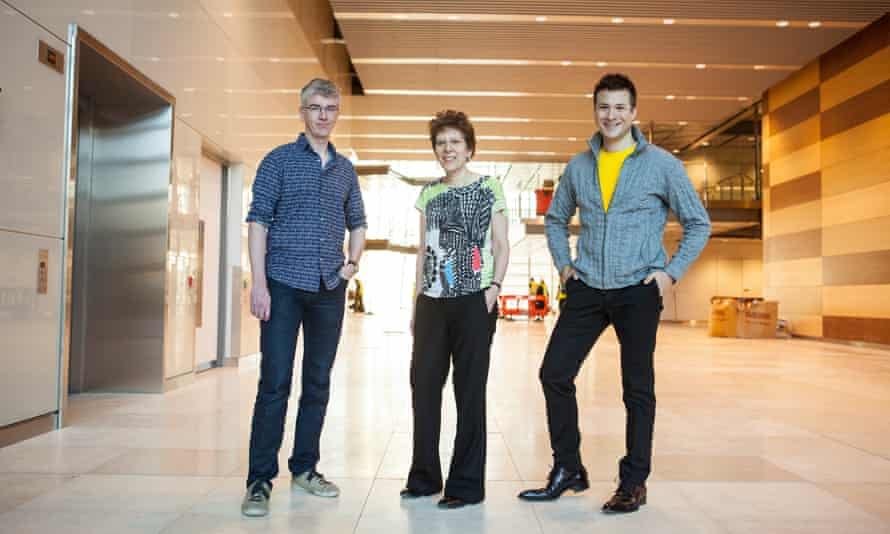Dr James Briscoe, left, Dr Caroline Hill, and Professor Nick Luscombe – researchers at the new Crick Institute.