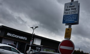 Some customers were confused by the signs in the Stansted retail park
