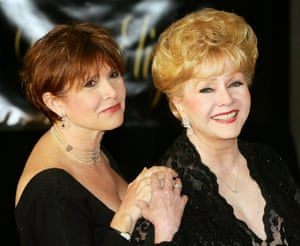 Carrie Fisher and Reynolds are pictured here at Taylor's 75th birthday party at the Ritz-Carlton, Las Vegas, in 2007.