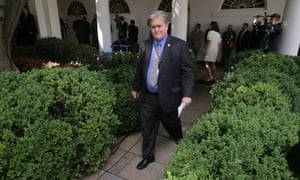 Steve Bannon at the White House in June.