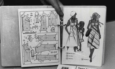 A pattern kit for dress-making (undated)