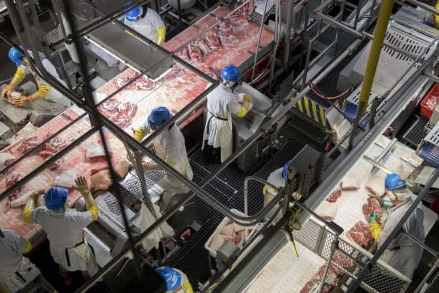 A US pork processing plant