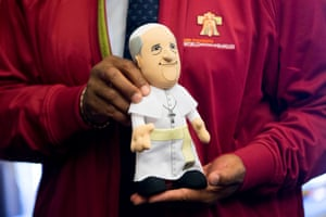Included in the official merchandise is a Pope Francis doll