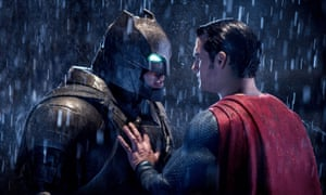 We can be heroes: as Batman, opposite Henry Cavill in a scene from Batman v Superman: Dawn of Justice.