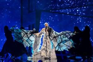 Nina Kraljic representing Croatia performs the song 'Lighthouse'