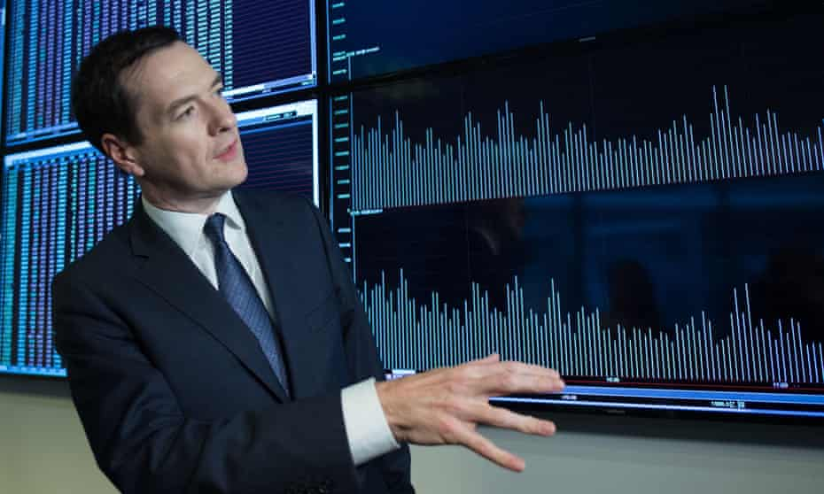 The chancellor of the exchequer, George Osborne, is given a tour of the Shanghai stock exchange on Tuesday during his five-day visit to China.