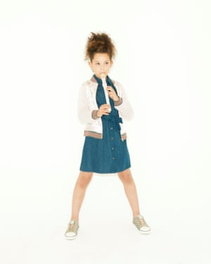 Sérénité wears dress, £18, and bomber, £26, both marksandspencer.com. Trainers, £18, next.co.uk. Recorder, £8, monsoon.co.uk