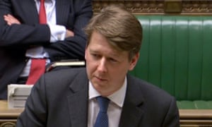 Junior Brexit minister Robin Walker addressing MPs in the Commons.