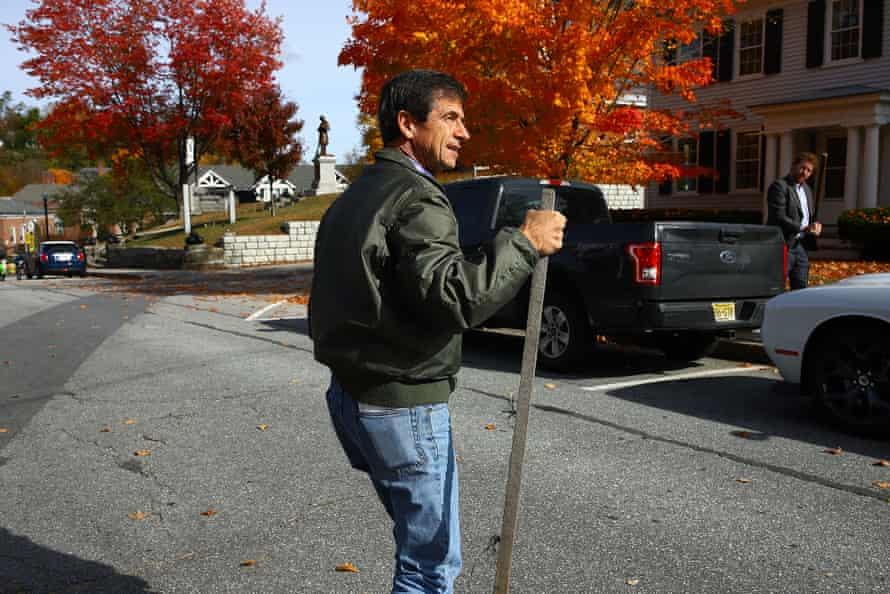 """""""I wouldn't go through this if I didn't think we have a possibility of winning,"""" said Sestak as he walks across New Hampshire."""