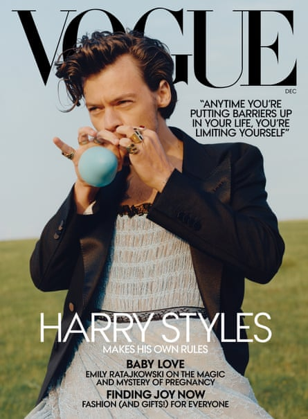 Styles on the cover of US Vogue's December issue.