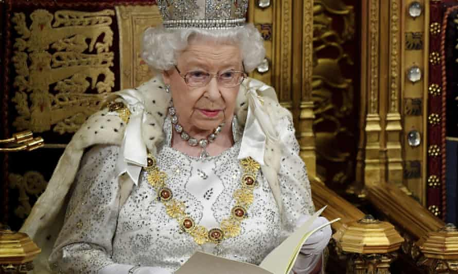Queen Elizabeth II delivers the Queen's Speech during the official state opening of parliament in London on Monday 14 October 2019
