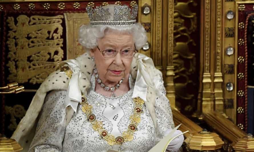 Queen Elizabeth II delivers the Queen's speech during the official state opening of parliament in London