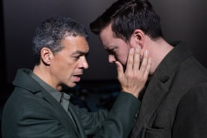 Roderick Williams and David Butt Philip, the two male soloists, as they sing Wilfred Owen's line: 'I'm the enemy you killed, my friend'
