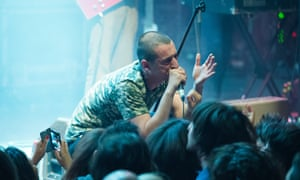 Lias Saoudi from Fat White Family performs at La Cigale, Paris on 13 November, 2015.