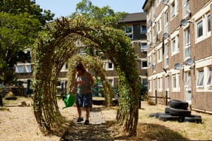 Marie Kelly spends her spare time gardening on the estate's community allotment