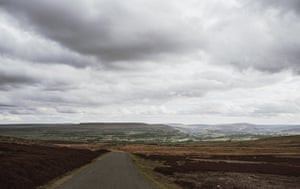 18.The moors that are just above the centre. The road leads out to the town of Richmond and army base at Catterick