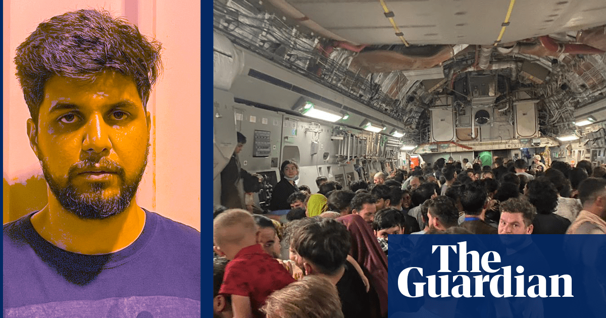 My escape from Afghanistan on a US military plane: 'It was total chaos' – video