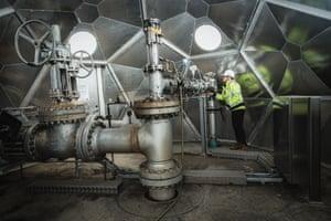 Ólöf Snæhólm Baldursdóttir at the injection well of Carbfix in Hellisheiði geothermal power plant