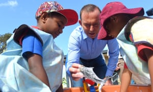 Tony Abbott visits a school on the Northern Peninsula in far north Queensland while prime minister in August 2015 as part of his annual week visiting Indigenous communities.