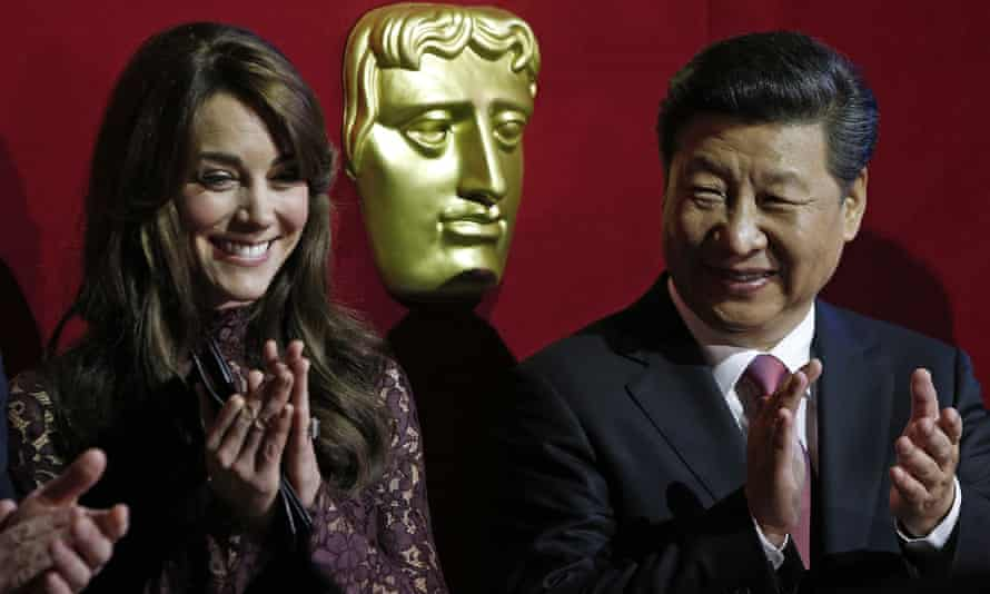 Xi and the Duchess of Cambridge attend a Bafta presentation at Lancaster House in London.