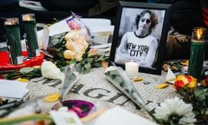 A vigil marking John Lennon's death