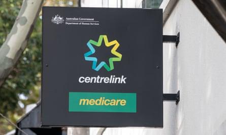 A Centrelink sign