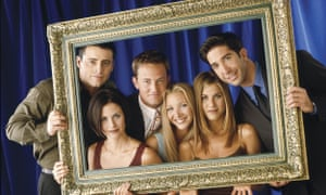 Matt Le Blanc, Courteney Cox, Matthew Perry, Lisa Kudrow, Jennifer Aniston and David Schwimmer in Friends.