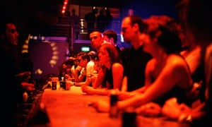 The bar at Ministry of Sound nightclub in London