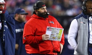 Matt Patricia during his time as defensive coordinator of the New England Patriots