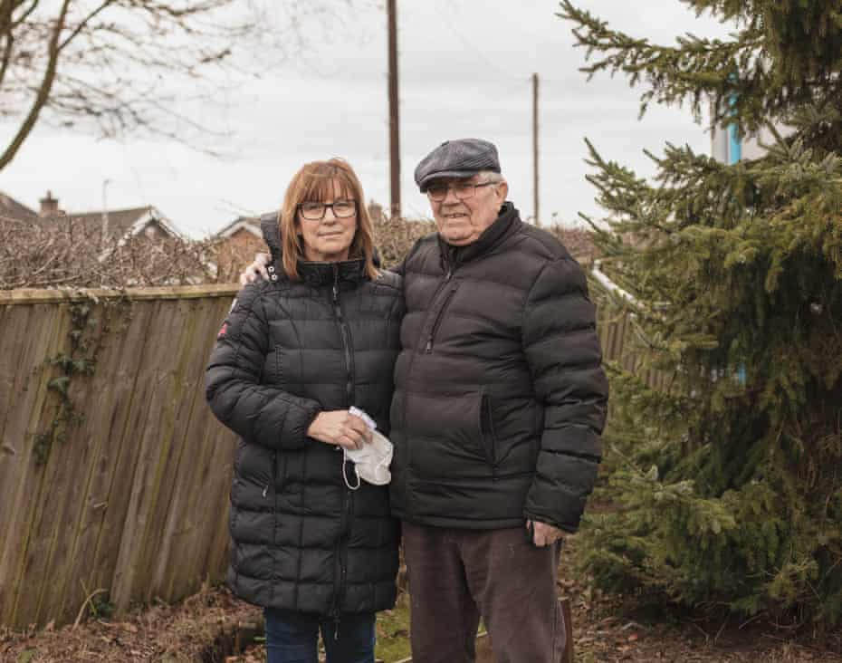 Elizabeth Wardlaw and Alec Burton outside Green Gables before Alec went to visit his wife