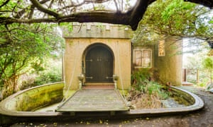 A 1970s castle for sale in Wellington in New Zealand.