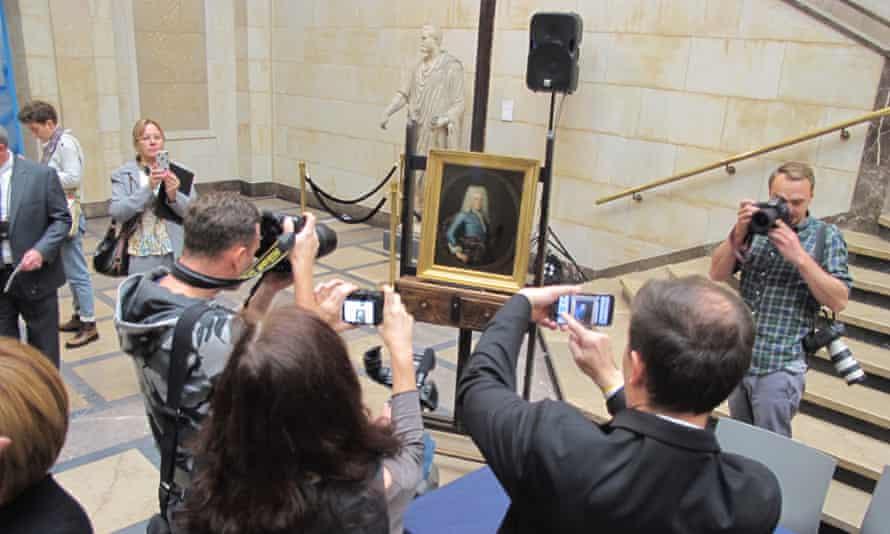 Bob Wittman, of Columbus, Ohio, returned Portrait of a Young Man to Poland.