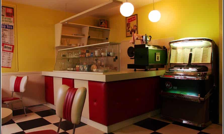 1950s milk bar at Opie's Museum of Memories, Wigan.