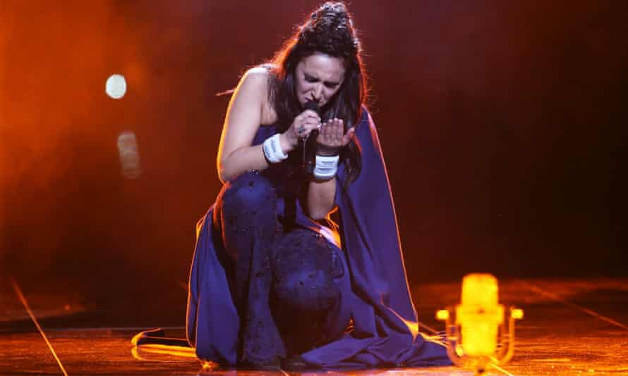 Ukraine's Jamala sings at the 2016 Eurovision song contest