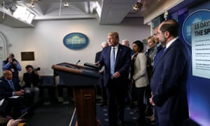 U.S. President Trump speaks about coronavirus (COVID-19) pandemic during news briefing at the White House in Washington, U.S.
