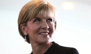 Julie Bishop told delegates in Paris that Australia would 'meet and beat' its emissions targets for 2020.