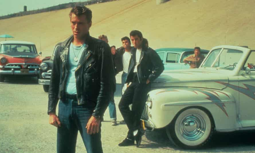 Jeff Conaway as Kenickie with the T-Birds.