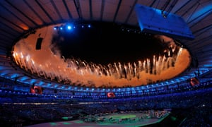 Fireworks at Rio 2016 Opening Ceremony