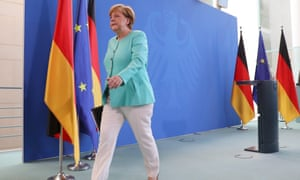 German Chancellor Angela Merkel reacts on British vote to leave EU