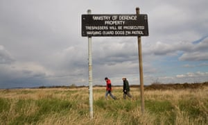 The Ministry of Defence owns 750,000 acres of land in England
