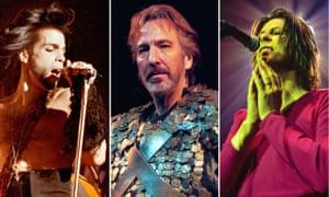 Prince, Alan Rickman and David Bowie composite