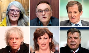 Signatories to the open letter on equality between phyical and mental health provision include Mary Beard, Danny Boyle, Alastair Campbell, Bob Geldoff, Miranda Hart, and Sam Allardyce.