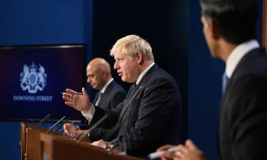 Sajid Javid, Boris Johnson and Rishi Sunak