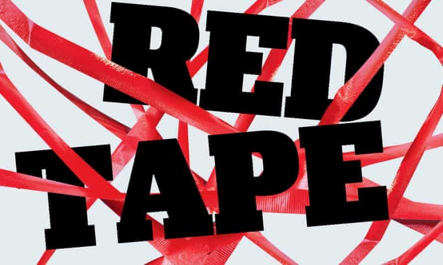 Red tape illo
