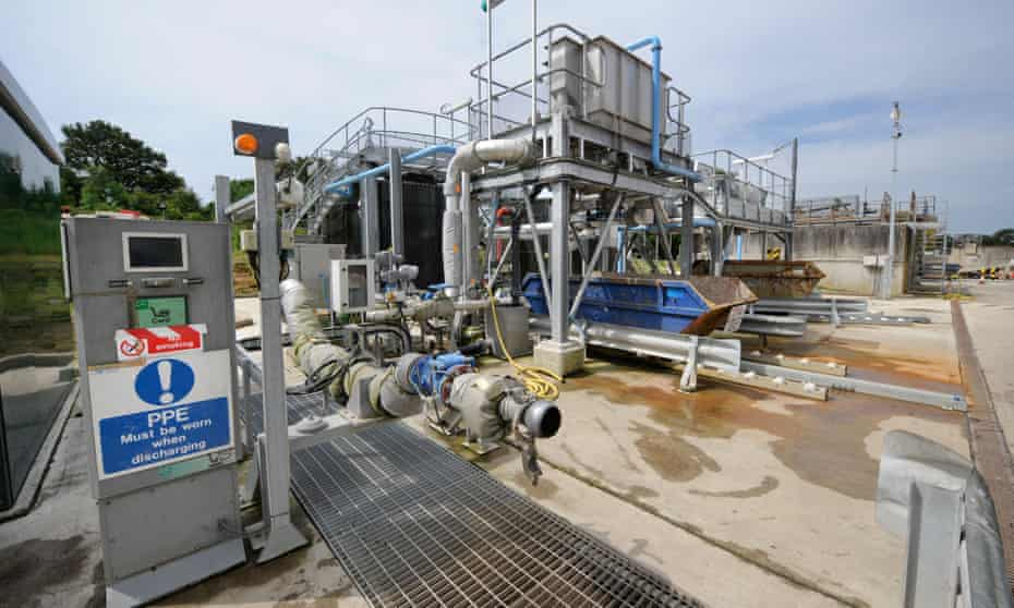 A sewage treatment works in West Sussex.