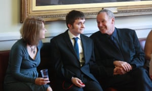 Virginia Bovell with her son Danny and ex-husband Nick Horby