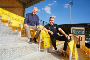 Irving and Simon Weaver, the owner and manager of Harrogate Town.